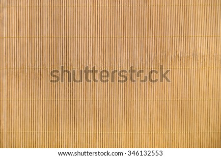Bamboo mat as abstract texture - stock photo