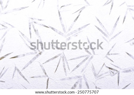 bamboo Mulberry paper with flower texture background - stock photo