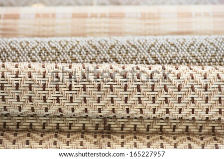 Bamboo placemats - stock photo