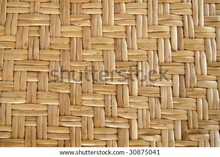 Bamboo table texture - stock photo