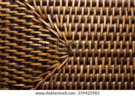 bamboo weave mat texture or background - stock photo