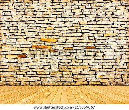 bamboo wood textured backgrounds in a room interior - stock photo