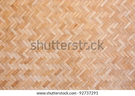 Bamboo woven wall - stock photo