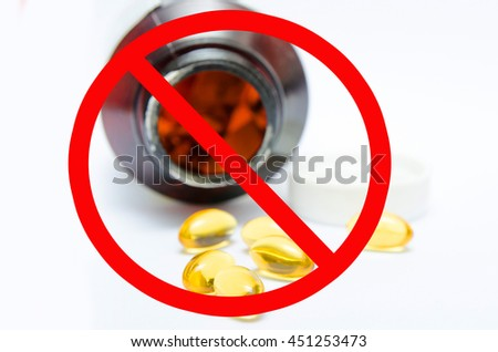 Ban symboll,Tablets pills heap therapy drugs doctor flu antibiotic pharmacy medicine medical - stock photo