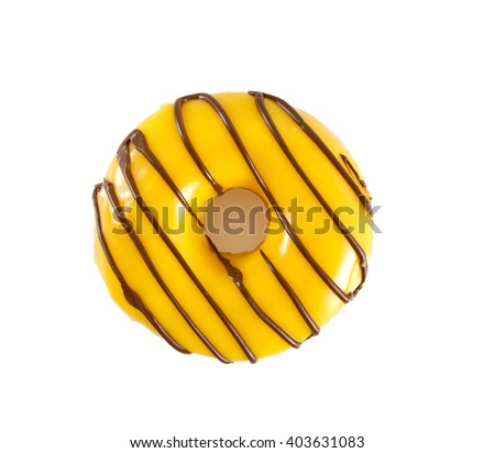 banana doughnut - stock photo