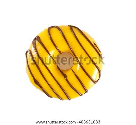 banana doughnut - stock photo