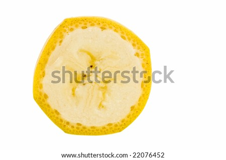 Banana on white background. - stock photo