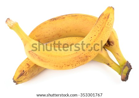 Bananas on a white background - stock photo