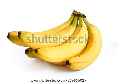 Bananas on white background - stock photo