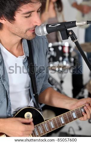 Band practice - stock photo