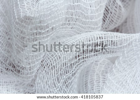 bandage or gauze texture, abstract background - stock photo