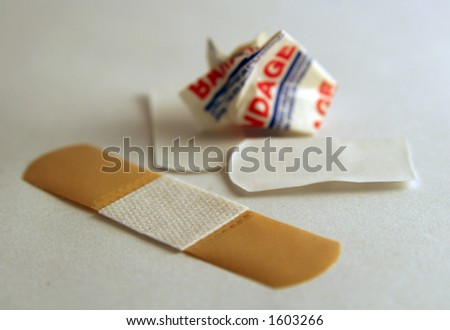 Bandaid. - stock photo