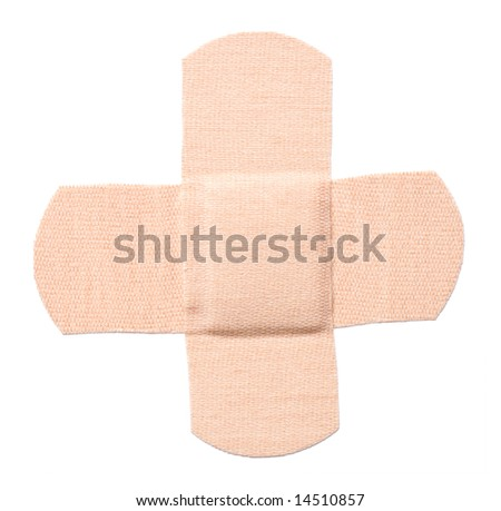 Bandaid isolated (with clipping path) - stock photo