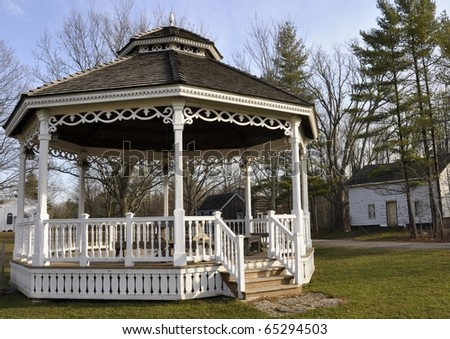 Bandstand at Westfield Heritage village, Rockton Ontario - stock photo