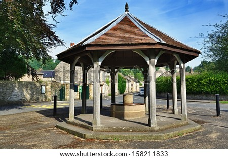 Bandstand in Ashford-In-The-Water, Derbyshire - stock photo