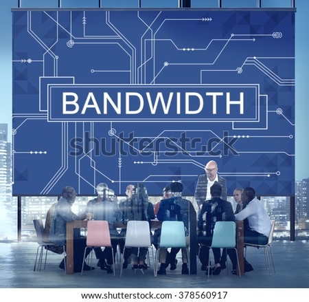 Bandwidth Internet Online Connection Technology Concept - stock photo
