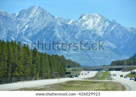 Banff National Park in Alberta, Canada - stock photo
