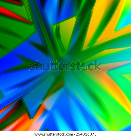 Bang Background - Abstract Colorful Energetic Artworks - Creative Art - Blue Green Aqua Yellow Colors - Motion Blurred Illustration - Pow Boom Zap Concept Image - Decorative Blast Effect - Artistic - stock photo