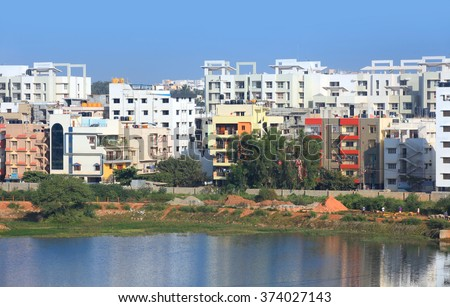 BANGALORE, INDIA - DEC 14, 2015: Bangalore is one of the top 5 Indian cities to receive highest private equity in real estate in 2015. - stock photo