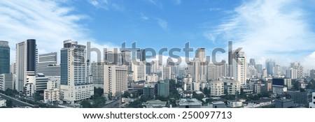 Bangkok business center panorama view.  - stock photo