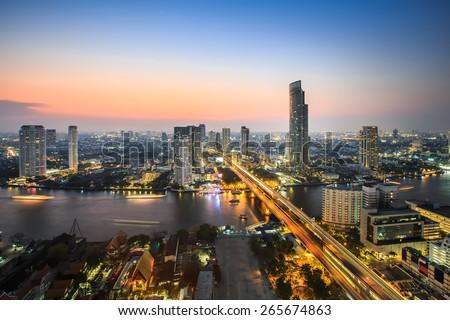 Bangkok City Skyline, Thailand - stock photo