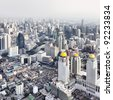 Bangkok city view from above, Thailand. - stock photo