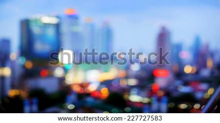 Bangkok cityscape at twilight time - stock photo