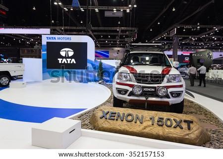 BANGKOK - DECEMBER 4 : Tata Xenon on displayed at Thailand International Motor Expo2015 (MOTOR EXPO 2015) exhibition of vehicles for sale on December 4, 2015 in Bangkok, Thailand. - stock photo
