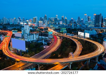Bangkok Downtown City Skyline - stock photo