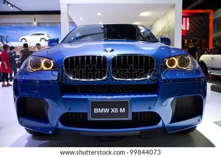 BANGKOK - MARCH 30: BMW X6 M car on display at The 33th Bangkok International Motor Show on March 30, 2012 in Bangkok, Thailand - stock photo