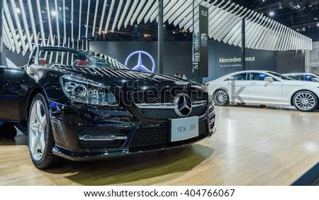 BANGKOK - MARCH 22 : Mercedes-Benz SLK 200 on display at The 37th Bangkok International Motor Show : No �Boundaries Mobility on March 22, 2016 in Bangkok, Thailand. - stock photo
