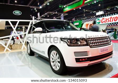 BANGKOK - MARCH 26 : The All - Nwe Range Rover car on display at The 34th Bangkok International Motor Show 2013 on March 26, 2013 in Bangkok, Thailand. - stock photo