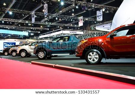 BANGKOK - MARCH 26: The Mazda BT 50 pickup on display at The 34th Bangkok International Motor Show 2013 on March 26, 2013 in Bangkok, Thailand. - stock photo
