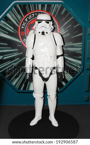 BANGKOK - MAY. 11: A Storm Trooper model in Thailand Comic Con 2014 on May 11, 2014 at Siam Paragon, Bangkok, Thailand. - stock photo