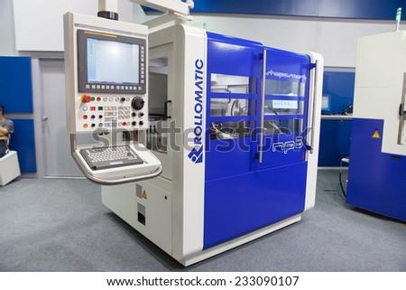 BANGKOK - NOVEMBER 22 :The controler machine box display at  METALEX 2014 on Nov 22,2014 in BITEC ,Bangkok, Thailand. - stock photo
