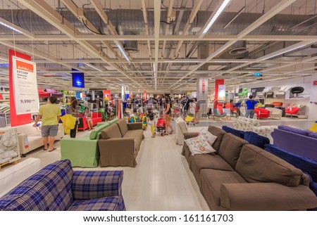 bangkok october 23 people shop at ikea bangkok store on october 23