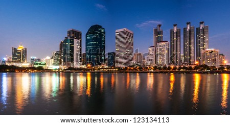 Bangkok skyline - stock photo