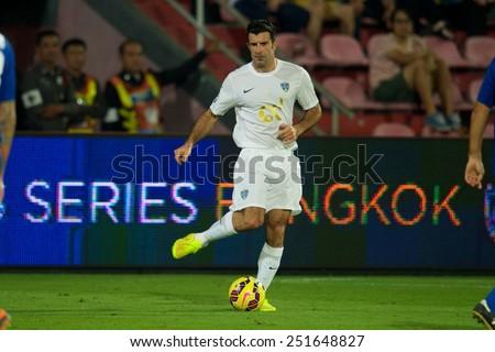 BANGKOK, THAILAND - DECEMBER 05: Luis Figo of Team Figo for the ball during the Global Legends Series match, at the SCG Stadium on December 5, 2014 in Bangkok, - stock photo
