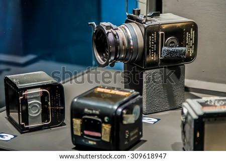 BANGKOK, THAILAND - DECEMBER 20: NASA Exhibition in Bangkok, Thailand on December 20, 2014. The camera that used in almost all NASA mision - stock photo