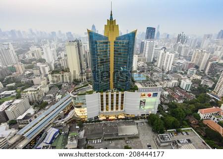 BANGKOK, THAILAND - JAN 4: Terminal 21, famous shopping mall, located near Asoke intersection on January 4, 2014 in Bangkok,Thailand. - stock photo