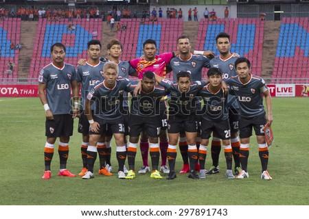 BANGKOK,THAILAND:JULY 2015:11 Lineups of Chiang Rai United between Osotspa M150 vs Chiang Rai United at Rajamangala National Stadium;inThai Premier League on19July2015,Bangkok Thailand.  - stock photo