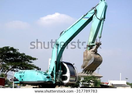 BANGKOK-THAILAND-NOVEMBER 11 : A loader for construction at work site on November 11, 2015 Bangkok, Thailand - stock photo