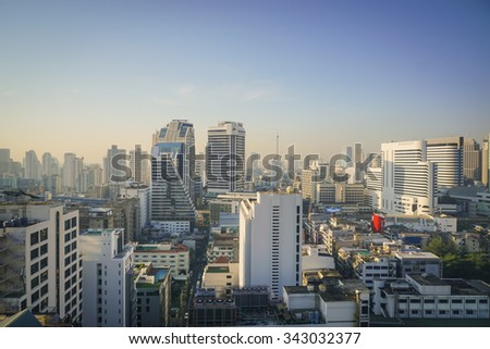 Bangkok -THAILAND-20 NOVEMBER  2015-- The city of Bangkok,is the capital and most populous city of Thailand. It is known in Thai as Krung Thep Maha Nakhon.Bangkok is very modern with many skyscrapers. - stock photo