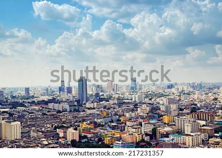 Bangkok, Thailand view - stock photo