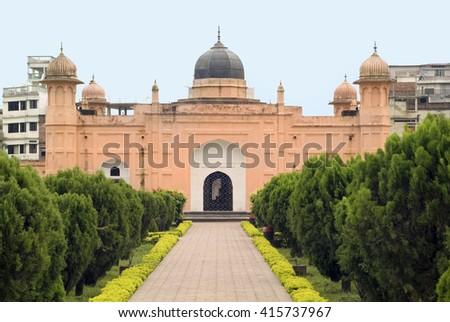Bangladesh, Dhaka, Tomb Bibi Pari in Lalbagh Fort - stock photo