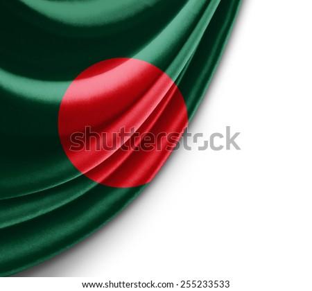 Bangladesh flag and white background  - stock photo