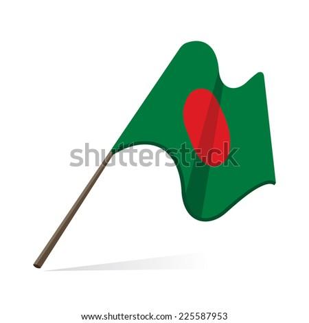 bangladesh flag, flag of bangladesh - stock photo