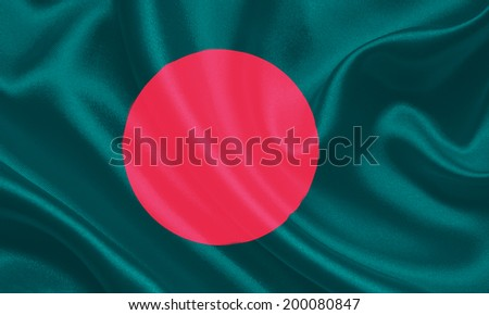 Bangladesh waving Standard Flag - stock photo