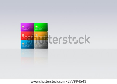 bank and credit cards - stock photo