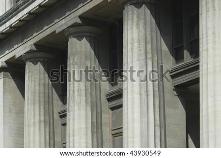 bank building - stock photo